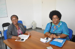 Left, Bintou Keita, COS-UN-MEER-HQ-Ghana & Dr Ngoulla, Adviser on Health of Ecowas Commission-Abuja
