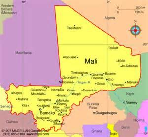MALI Economic Community Of West African StatesECOWAS - Map of mali