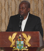 H.E. Mahamat President  of Repunlic of Ghana