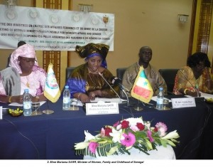 2. Mme Mariama SARR, Minister of Women, Family and Childhood of Senegal