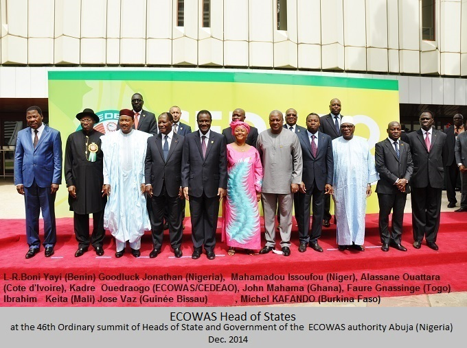 46th Ordinay session of ECOWAS-CEDEAO-Abuja, Nigeria, Dec 2014