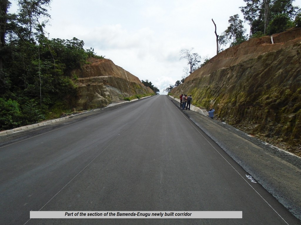 Part of the section of the Bamenda-Enugu newly built corridor