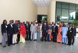Group Photograph of the Seminar on Review of ICT Strategy. Abuja, 27th July, 2015. IMG_9632