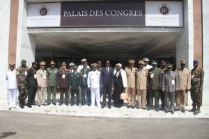 Committee of Chiefs of Defense Staff and other participants in a group picture after the Opening Ceremony.