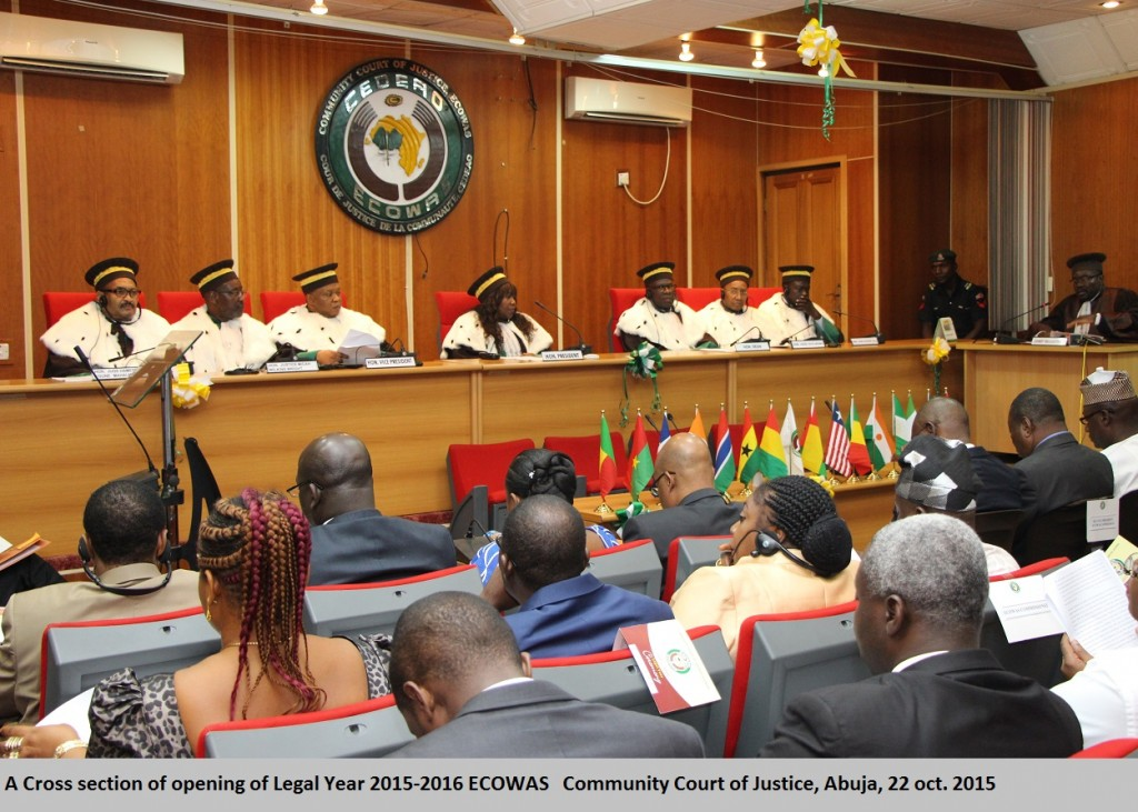 A Cross section of opening of Legal Year 2015-2016 ECOWAS   Community Court of Justice, Abuja, 22 oct. 2015. IMG_2002
