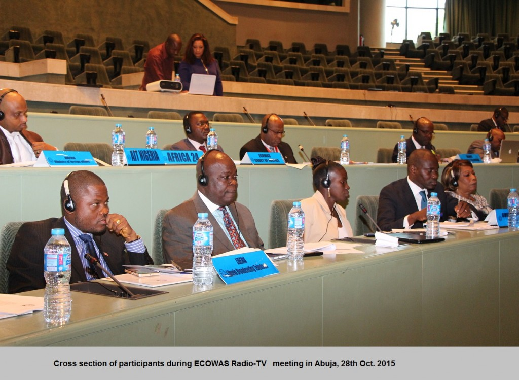 Cross section of participants during ECOWAS Radio-TV   meeting in Abuja, 28th Oct. 2015.  IMG_2255