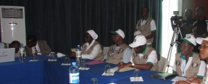 ECOWAS delegation members joining the situation room
