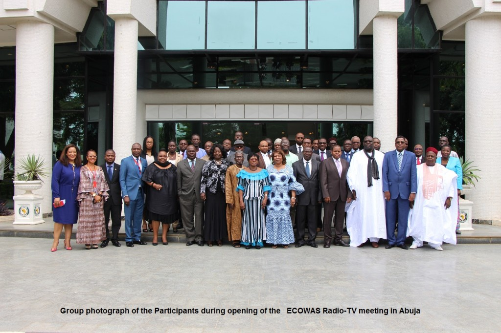 Group photograph of the Participants during opening of the   ECOWAS Radio-TV meeting in Abuja, 28th Oct. 2015. IMG_2302