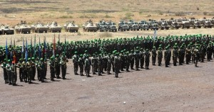 Military contingent filed out for parade at the Amani Africa II DV Day edited