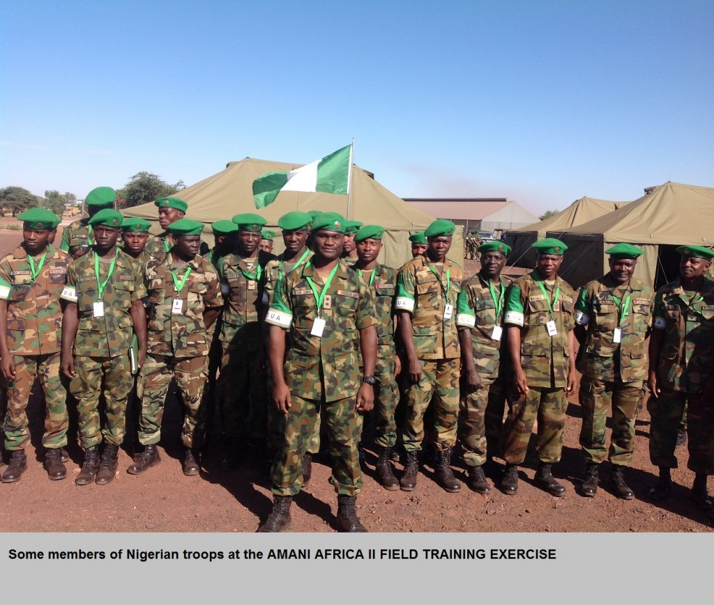 Some members of Nigerian troops at the AMANI AFRICA II FIELD TRAINING EXERCISE