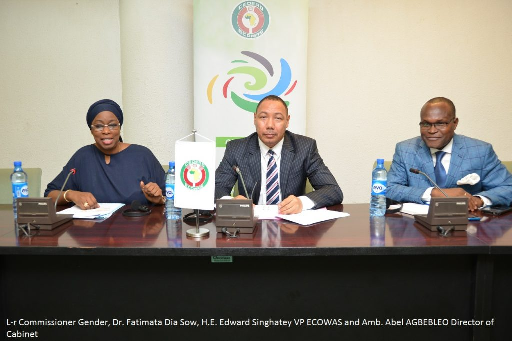 l-r Commr. Gender, VP ECOWAS and Dir. Cabinet
