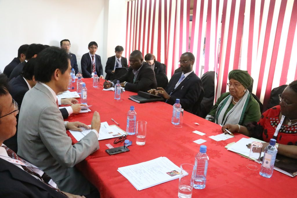 Bilateral Meeting between Liberia-Japan on the sidelines of TICAD VI
