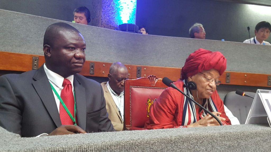 Liberia's President Sirleaf and Dep. Health Minister, Tolbert Nyenswah at TICAD Summit VI