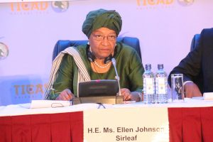 President Sirleaf addressing High Level Event on Africa, Towards 2063 And Beyond