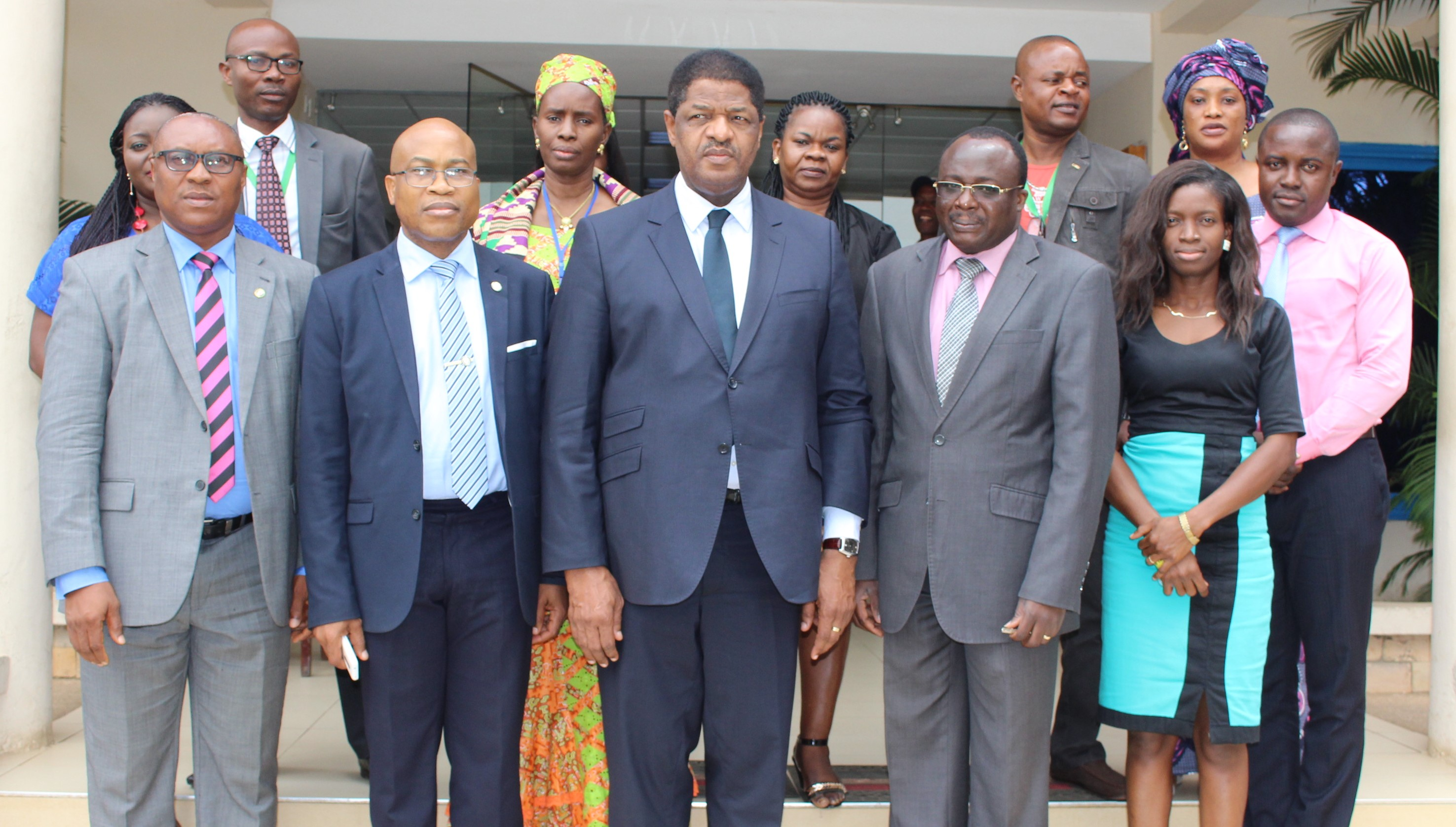 President de Souza and Dr. Remi Ajibewa (2nd and 3rd left, respectively), with ERERA staff.