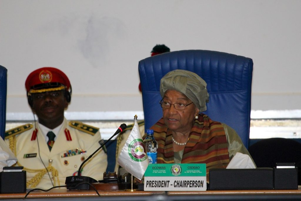 H.E. Ellen Johnson Sirleaf, Chairperson of the Authority of Heads of States and Government of ECOWAS