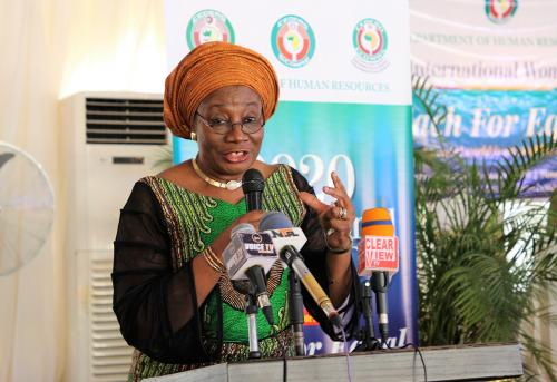 Hon. Justice Modupe Atoki of the ECOWAS Community Court of Justice.