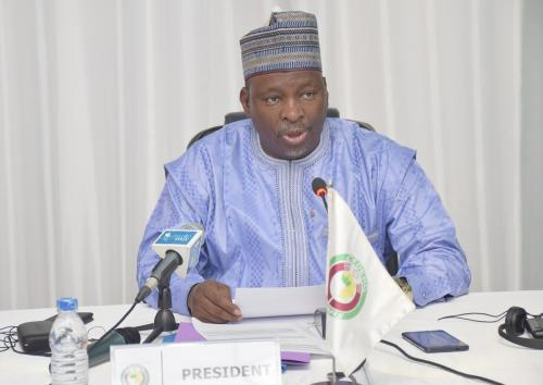 Mr. Habi Mahamadou Salissou, the Minister of Communication of the Republic of Niger and Chair of the ECOWAS Ministers in Charge of Information