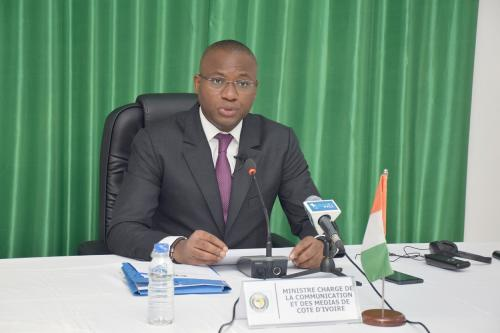 Mr. Sidi Tiémoko Toure, the Minister of Communication and Media, and the Spokesperson of the Government of Côte d'Ivoire